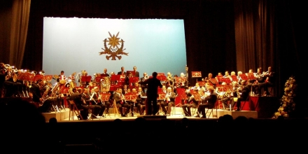 Conducting La Stella Band during the annual concert at Teatru Astra
