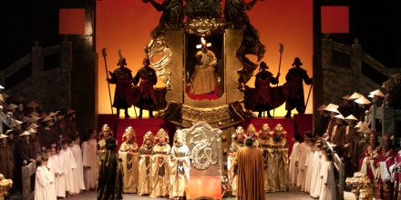 Conducting Turandot at Teatru Astra with Francesca Patane in the title role