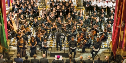 Conducting the world premier of the Hyland Mass at St George's Basilca July 2013
