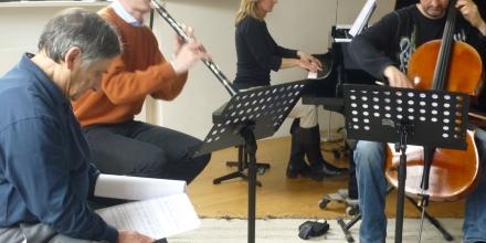 Rehearsing Canti at the Kunstler Haus in Salzburg