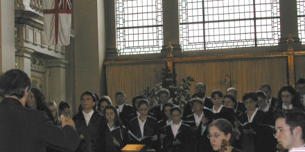 With the Laudate Pueri Choir at Wetminster Cathedral, London