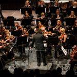 Brian Schembri conducting the Torun Symphonic Orchestra