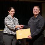 Christian Johnson awarded by Dr. Shafer, University of Delaware